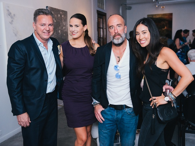 18 Charles Clark, from left, Adriana Banks and Greg and Jacey Cooper at CultureMap's 2014 Tastemakers Awards May 2014