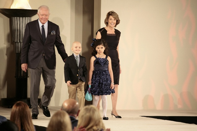 22 Thurmon Andress, from left, Peter Evans, Gabriella Garza and Lilly Andress at the Texas Children's Hospital Celebration of Champions luncheon October 2014