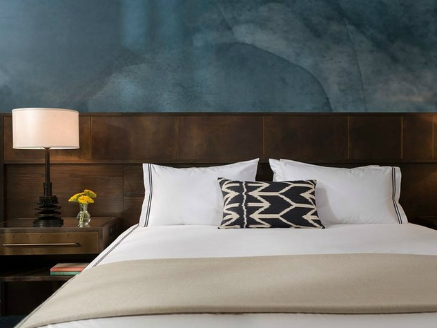 A rendering of a sample room in Austin's new Hotel Van Zandt