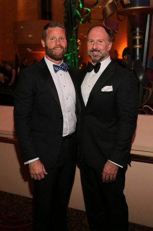 Kevin Black, left, and Tony Bradfield at the Houston SPA Society for the Performing Arts Gala March 2015