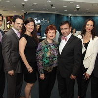 3349, Zadok Jewelers, grand wedding band event, March 2013, Jonathan, Gilad, Lisa, Helene, Dror, Amy and Segev Zadok