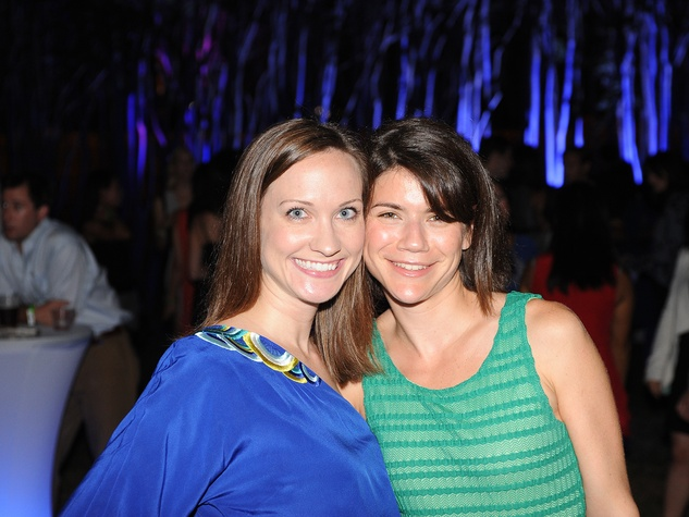 Eliza Wright, left, and Liat Avivi at HAA's Under The Blue Trees Pop-Up Party October 2013