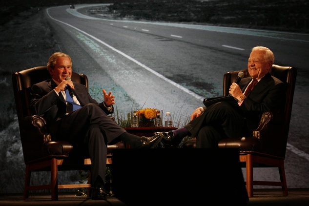 2 George W. Bush, left, and Bob Schieffer at An Evening with a Legend February 2015
