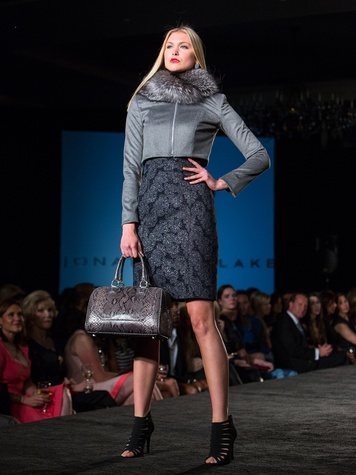 3 3576 A model on the runway at the Jonathan Blake fashion party April 2014