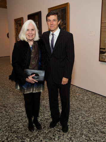 5 Fredericka Hunter and Josef Helfenstein at the MFAH Georges Braque opening reception February 2014