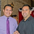 24 Derek Mendoza, left, and Louis Cardenas at the Young Professionals Grand Prix kick-off party June 2014.