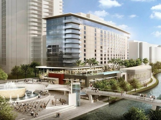 The Woodlands Waterway Square Hotel rendering February 2014