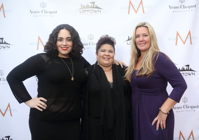 212 Lauren Razmzan, from left, Chara McDowell and Wendy Bulcroft at the Uptown Blow Dry grand opening in Vintage Park March 2015
