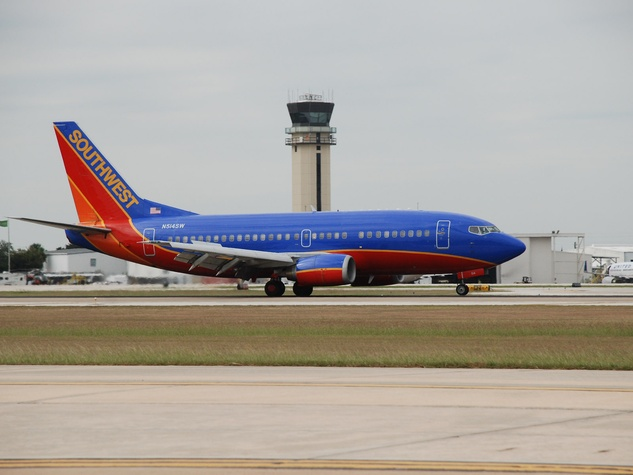 Hobby Airport Southwest Airlines plane control tower