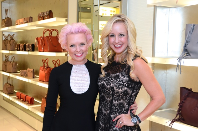 Vivian Wise, left, and Jennifer Brown at the Una Notte in Italia lunch at Valentino September 2014