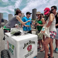 Summer Fest, June 2012, Jim Beam, whiskey, cart