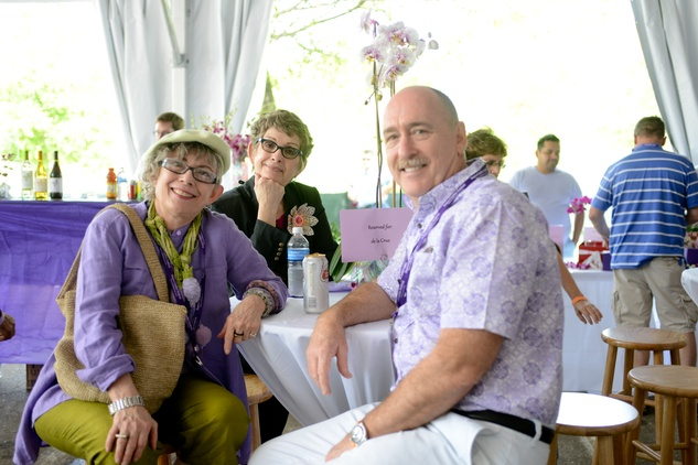 Sandy Zilker, from left, Sharon Dennard and Patrick Palmer at the Art Heist April 2014