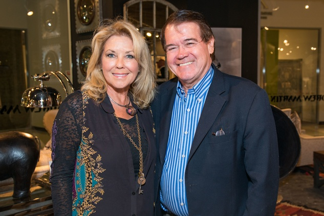 Cynthia Martin and Newell Cheatheam at the Decorative Center Houston Fall Market October 2014