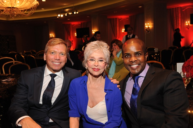Jonathon Glus, from left, Rita Moreno and Alton LaDay at the Houston Arts Alliance event with Rita Moreno May 2014
