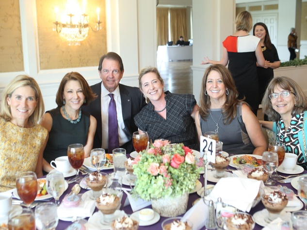 Alzheimer's AWARE Luncheon Ashley Clark, Estelle Racusin,  Welcome Wilson, Jr., Robin Burke, Ellen Wagnon, Elizabeth Labanowski