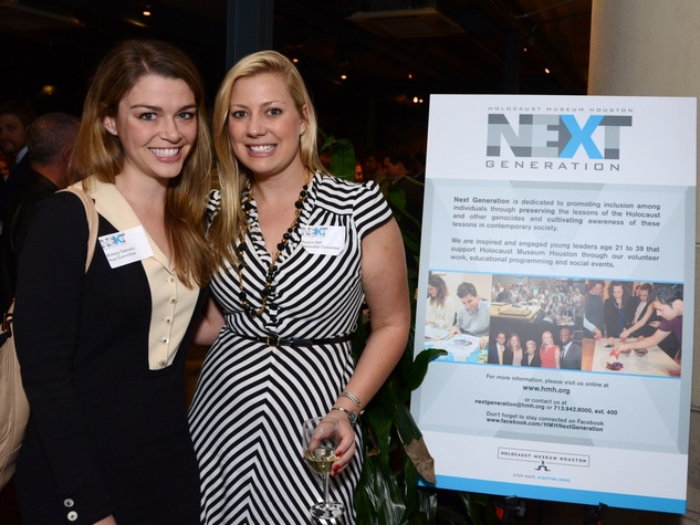 22 Brittany Sakowitz, left, and Jessica Hart at the Holocaust Museum Houston's Next Generation Young Professionals kickoff party November 2013