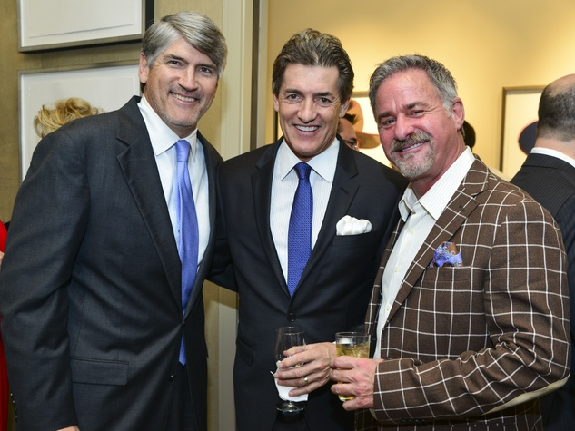 14 Michael Plank, from left, Nick Florescu and  Terry Wayne Jones at the Holiday Schmooze December 2013