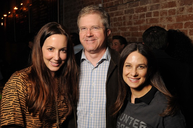3 Aimee Heimbinder, from left, Sean Gorman and Karen Farber at the CounterCurrent Kickoff Party March 2015