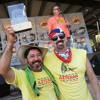 AzTexan team with trophy at Austin Chronicle Hot Sauce Festival 2014