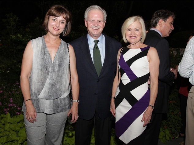 13 Leigh Smith, from left, with Jim and Jo Furr at the Laurie Anderson Dinner + Mitchell Artist Lecture September 2014