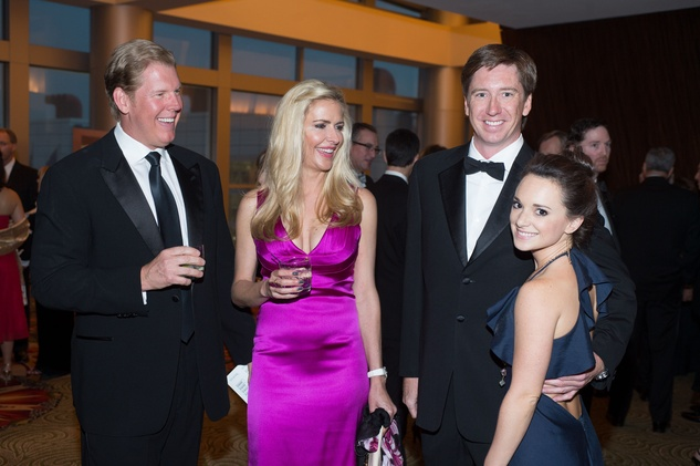 Lyle and Andrea Eastham, from left, John Isham and Jessica Bird at the Covenant House Gala April 201