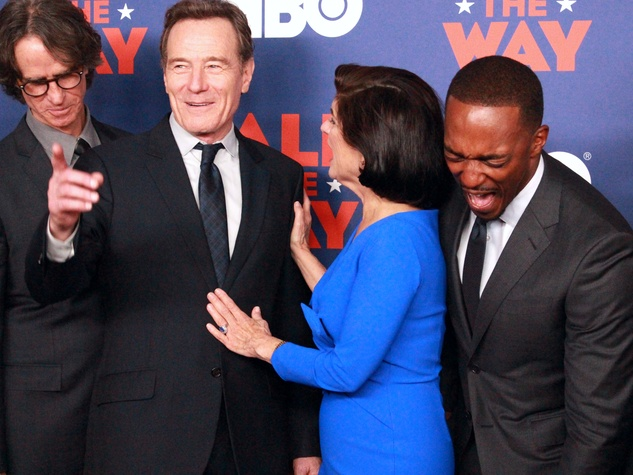 Austin premiere HBO film All the Way LBJ red carpet Jay Roach Bryan Cranston Luci Baines Johnson ANthony Mackie