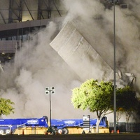 Astrodome towers demolition Dec. 8, 2013