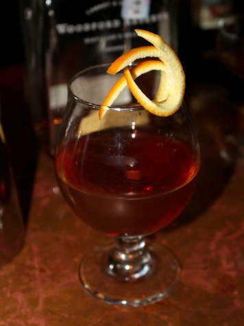 Kendyll Clark's drink at Woodford Reserve Manhattan party