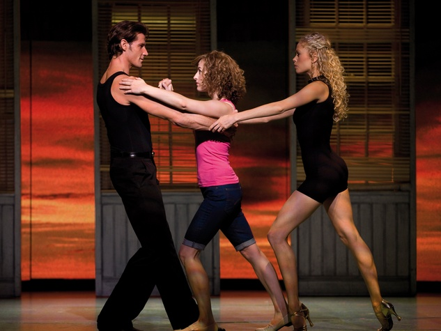 Gexa Energy Broadway at the Hobby Center series January 2014 Dirty Dancing Hungry Eyes Josef Brown, from left, Amanda Leigh Cobb and Britta Lazenga