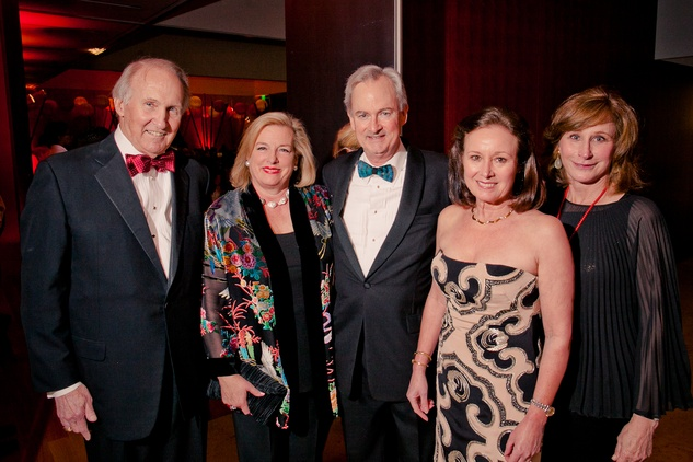 27 Jim and Molly Crownover, from left, Doug and Sarah McMurrey and Barbara Gibbs at the Asia Society Tiger Ball March 2015