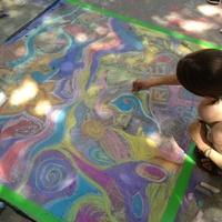 Nasher Xchange sidewalk chalk art