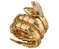 Bulgari Serpenti jeweled watch at Zadok