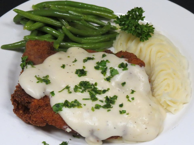 Chicken fried steak at Marcus Cafe