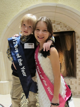 Fleming's Month of Giving, October 2012, Chloe & Noah