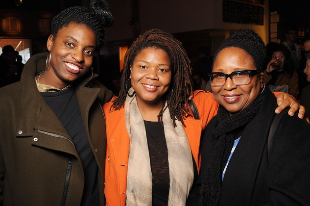 29 Ryan Dennis, from left, Lisa Harris and Landa Harris at the CounterCurrent Kickoff Party March 2015