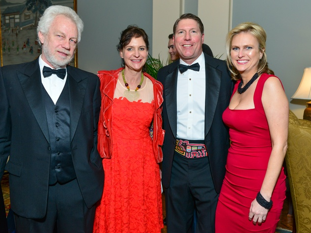Robert Boswell, from left, Antonya Nelson and Charlie and Angela Alcorn at the Inprint Poets & Writers Ball February 2014