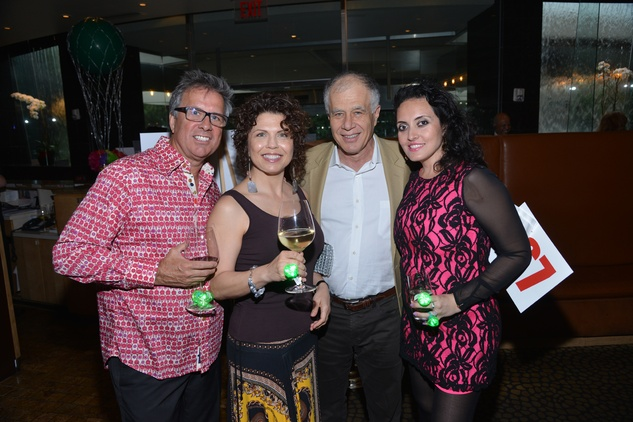 6S Scott and Moriah Talley, from left, Reuven Hollo and Dawn Forsmith at the Emerald City ESCAPE Celebrity Serve Benefit April 2014