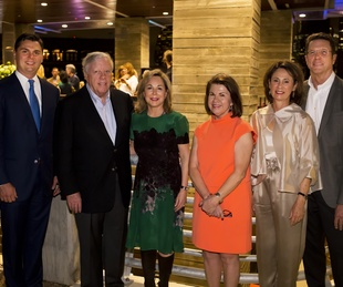 News, Shelby, Buffalo Bayou Partnership gala, Nov. 2015, Collin Cox, Rich Kinder, Nancy Kinder, Anne Olson, Sis Johnson, and Guy