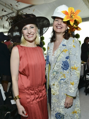 19 Isabel David, left, and Doreen Stoller at Hats in the Park March 2014