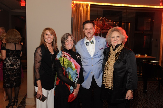 Lynn Baird, from left, Sara Morgan, David LaDuca and Phyllis Childress at the Houston Arts Alliance event with Rita Moreno May 2014