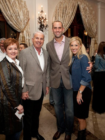 416 Shannon and Mark Wallace, from left, and Matt and Laurie Schaub at Texas Children's event November 2013