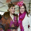 18 Jana Arnoldy, left, and Phoebe Tudor at Hats in the Park March 2014