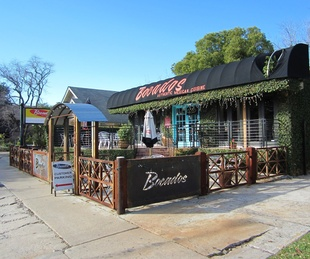 Bocados Houston Mexican Restaurant exterior with patio