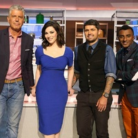 cast of judges ABC's the Taste with Anthony Bourdain, Nigella Lawson, Ludo Lefebvre and Marcus Samuelsson