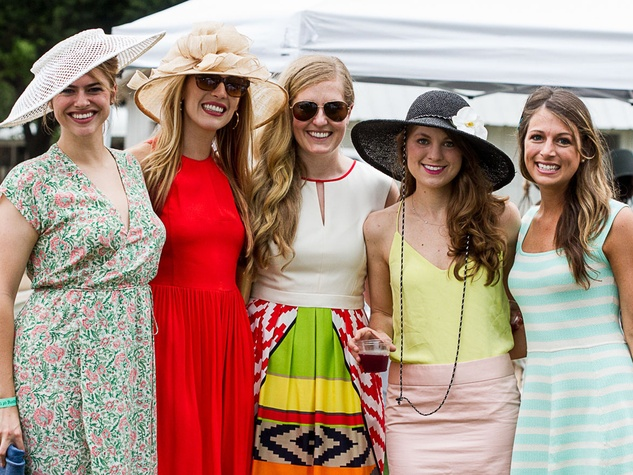 Tory Ridgeway, from left, Elizabeth Wilhite, Gretchen Bieber, Kalie Jackura and Sara Orsi at the Yellowstone Academy polo party April 2014