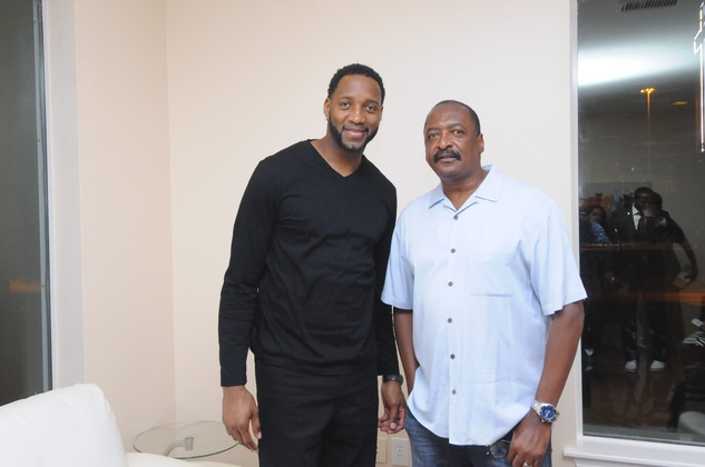 News, Shelby, Random Act of Kindness Kick-off, July 2015, Tracy McGrady, Mathew Knowles