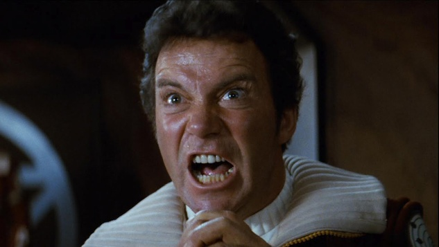 William Shatner as Captain Kirk in Star Trek II the Wrath of Khan