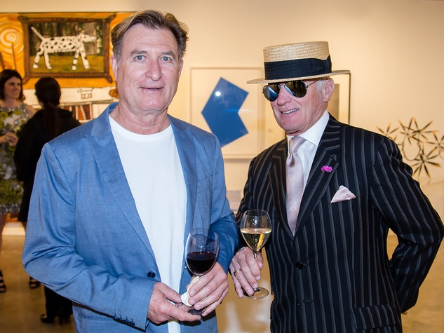 Steve Levine, John Reoch, dallas art fair preview gala