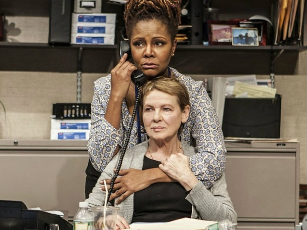 "Tonya Pinkins and Diane Wiest in the Off-Broadway premiere of ""Rasheeda Speaking"""