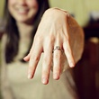 Girl with new engagement ring